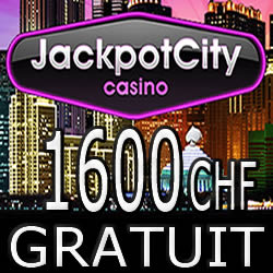 Jackpot City Casino N°1 en Suisse