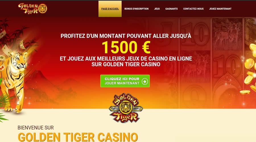 Golden Tiger Casino : 1500 Crédits Gratuits