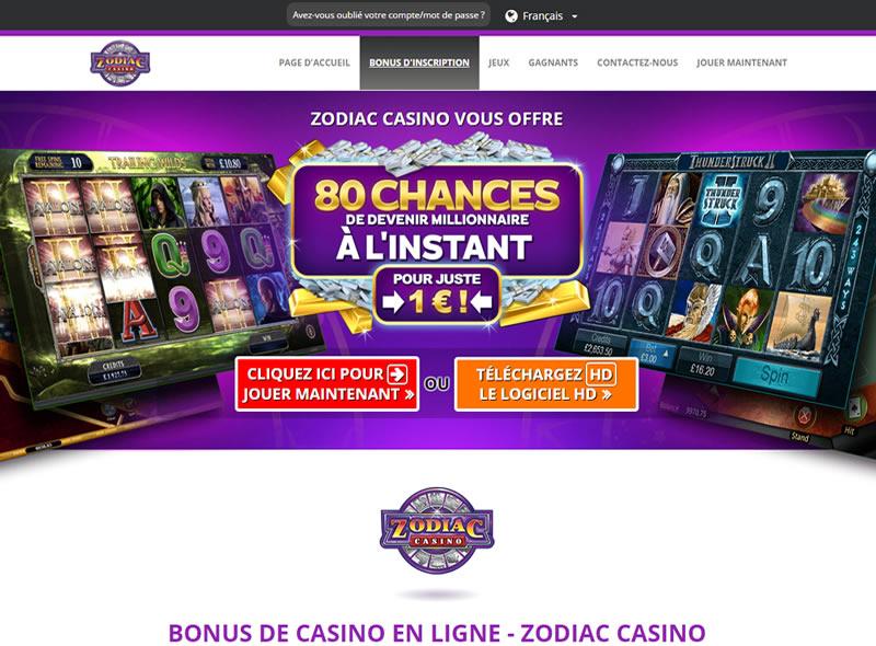 Zodiac Casino : Le Casino en Ligne Astral