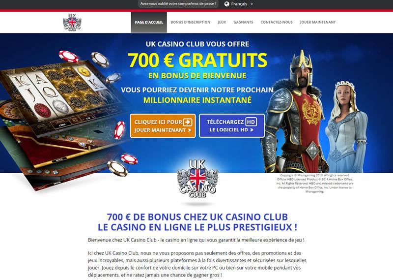 UK Casino Club : Des Jeux et des Jackpots