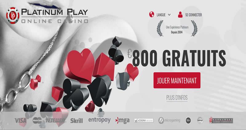 Platinum Play Casino en français