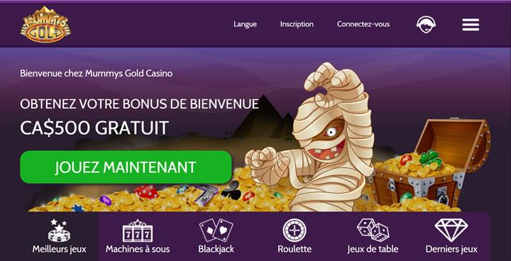 Une casino en ligne avec une promotion qui fait gagner de l'argent canadien. Jusqu'à C$500 sont crédités gratuitement.