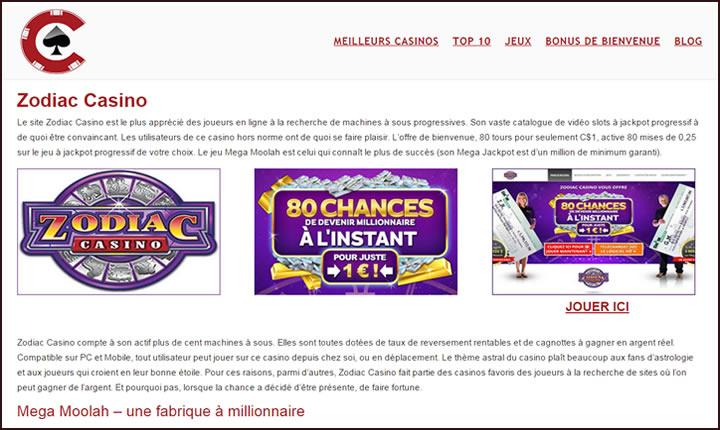 Listing de casino d'autorité pour jouer sur l'Internet Canadien