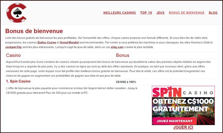 Le guide Canadien des casinos en ligne - audits et revues complètes